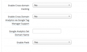 Cross domain tracking for Google Analytics