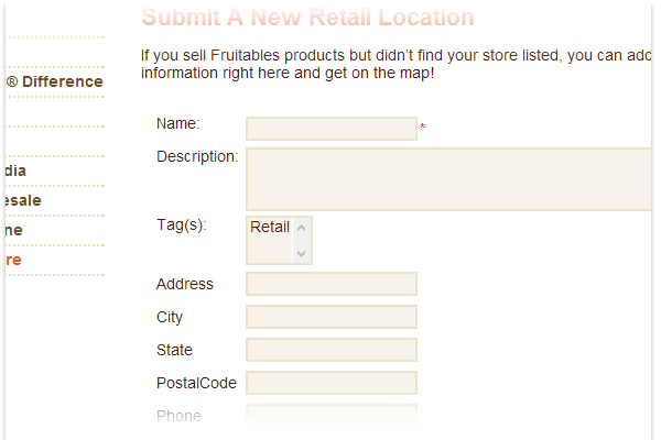 Allow users to submit locations