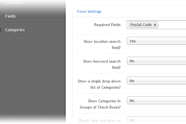 Drag and drop search form
