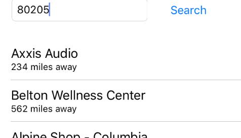 IOS Store Locator