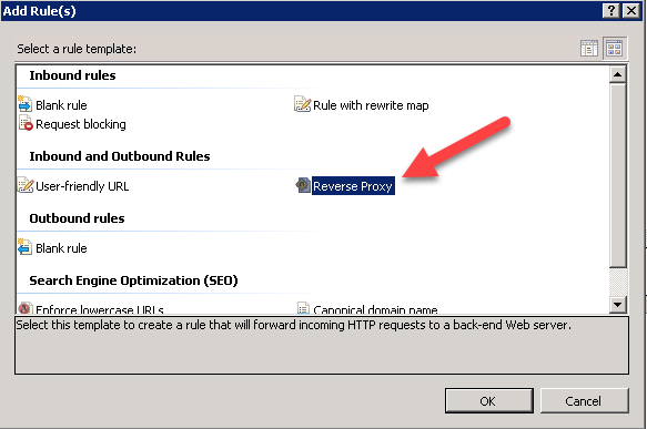 Configuring Reverse Proxy with IIS on Windows