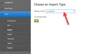 Importing product data