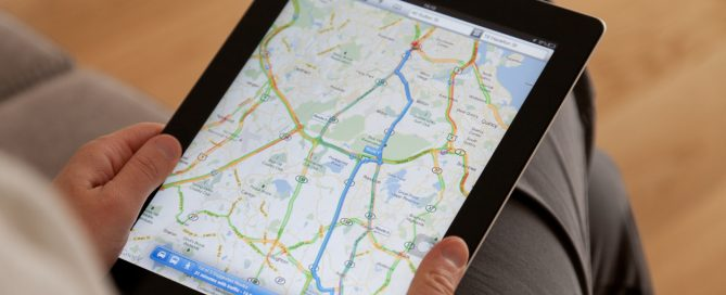 Google Maps on a Apple iPad screen