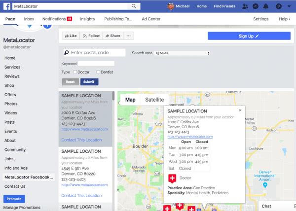 facebook store locator