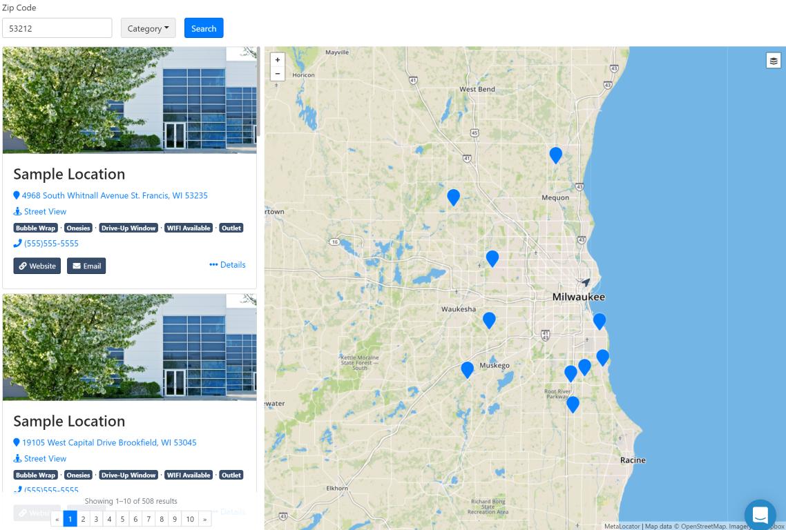 Sample Store Locator